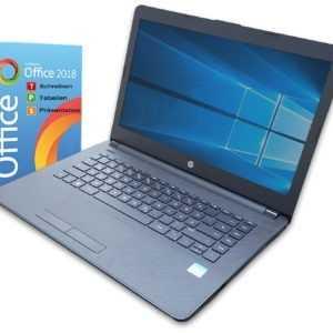 HP 14 Zoll Notebook ~ Dual Core ~ 4 GB ~ 128GB SSD ~ Win 10 ~ Office 2018 Laptop