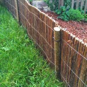 Beetumrandung Holz Beeteinfassung Rasenkante Mähkante Rollboarder Weidenmatte