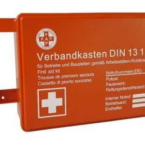 Verbandkasten Erste Hilfe DIN 13157 Verbandkasten + Wandhalterung orange 620150