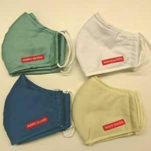 2x Maske Atemschutzmaske Mund Nano Baumwolle 30x Wäschen Antibakteriell 3 Lagig