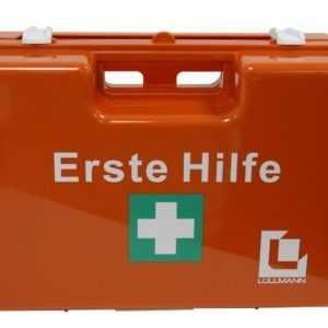 Verbandskasten Erste Hilfe Koffer DIN 13157 Verbandkasten + Halter orange Dom