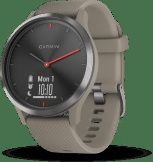 Garmin vivomove HR Sport Schwarz/Sandstein Smartwatch Sportuhr Fitness BRANDNEU
