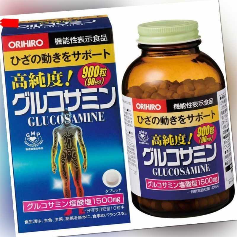 Orihiro Hoch Reinheit Glukosamin Vorteilspackung 900 Kapseln 90 Tage Japan FS