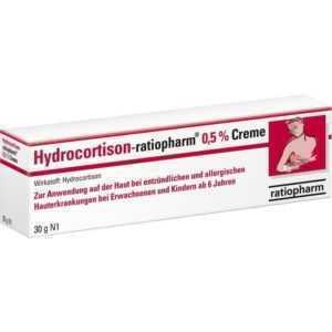 HYDROCORTISON ratiopharm 0,5% Creme   30 g   PZN9703312