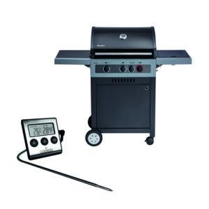 Gasgrill Enders Boston Black 3 K Turbo - BBQ Gas Grill inkl. Fleischthermometer