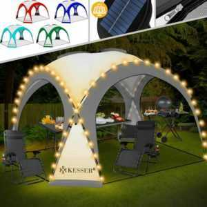 KESSER® Pavillon LED Event Partyzelt Solar Garten Gartenzelt Camping Pavilion