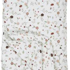 Laursen - Quilt Blumen Muster 180x130cm Tagesdecke Decke Überwurf