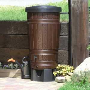 Regentonne Regenwassertonne Regenbehälter Regenfass Holzdesign 265L 2 Farben