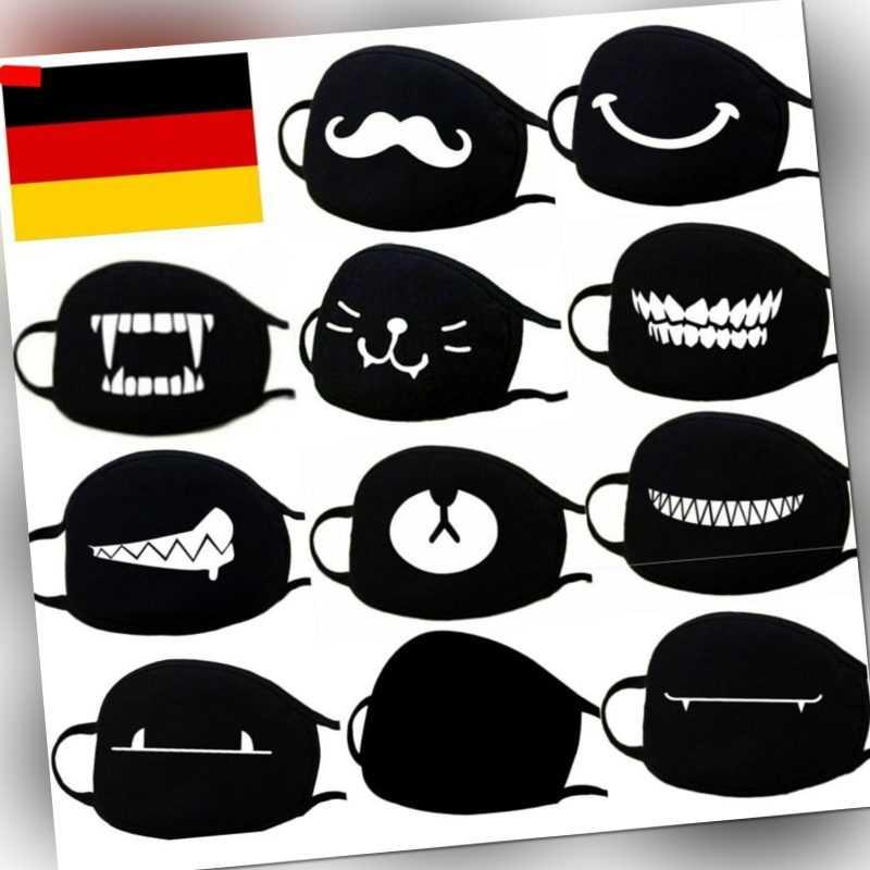 Behelfs Mundschutz Mundbedeckung Maske Behelfsmaske Staubmaske wiederverwendbar