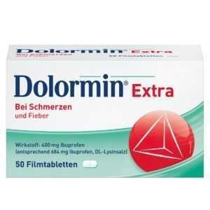 DOLORMIN EXTRA Filmtabletten 50 Stück PZN: 02400229