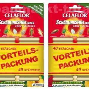 CELAFLOR Schädlingsfrei Careo 80 Combi-Stäbchen gegen Blattläuse mit NPK Dünger