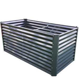 HOCHBEET Metall grau 90x180x84 cm Strandflair® - Gartenbeet Balkonbeet Frühbeet