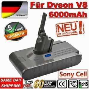 DHL 6,0Ah 21.6V Ersatzakku für Dyson V8 Absolute Vakuum-Handstaubsauger V8Animal