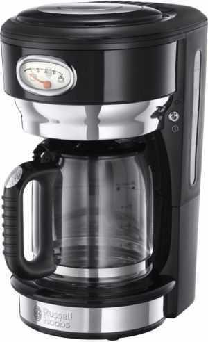 RUSSELL HOBBS Kaffeemaschine Retro Classic Noir 21701-56 Glas 10...