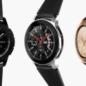 SM-R810 Samsung Galaxy Watch Smartwatch Uhr 42mm Fitnesstracker Midnight Black