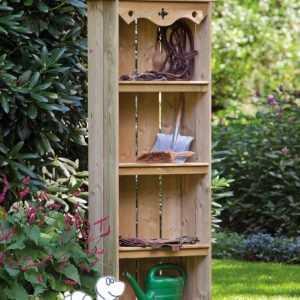 Gartenschrank Tuin Schuppen Gerätehaus Abstellraum Holz 60 x 30 x 182 cm Neu