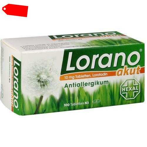 LORANO akut Tabletten 100 St 07224435