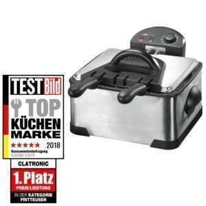 CLATRONIC Doppel-Fritteuse FR 3195 Friteuse 4 Liter Fritöse...