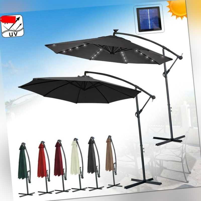 300/350cm Sonnenschirm Ampelschirm Gartenschirm Marktschirm Sonnenschirm Alu Neu