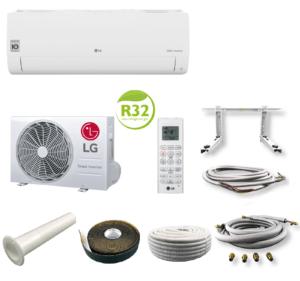 LG Standard Klimaanlage Inverter Set S09EQ 2,5 kW mit Quick Connect 3 Meter; EEK A