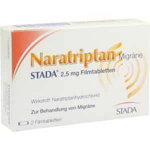 NARATRIPTAN Migraene STADA 2,5 mg   2 st   PZN9391930
