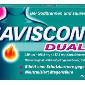 GAVISCON Dual 250mg/106,5mg/187,5mg Kautabletten 48 St PZN: 11528394