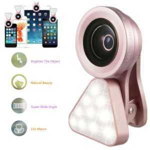 Selfie Licht Ring Handy Blitz Flash Light mit 10LED Für iPhone Samsung Huawei
