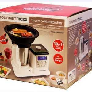GOURMETmaxx 10in1 Thermo Multikocher mit Koch und Mixfunktion Weiß...