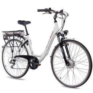 "28"" E-BIKE City Bike Elektrofahrrad Pedelec CHRISSON E-LADY 7G ACERA 13,4Ah 36V"