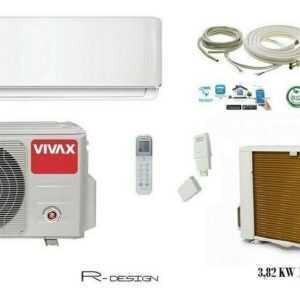 VIVAX Split Klimaanlage R Design 3,82 KW 12000 BTU Klimagerät Komplett SET 6 m