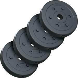 ScSPORTS® 10 kg Hantelscheiben Set 4 x 2,5 kg Hantel Gewichte 30 mm Kunststoff