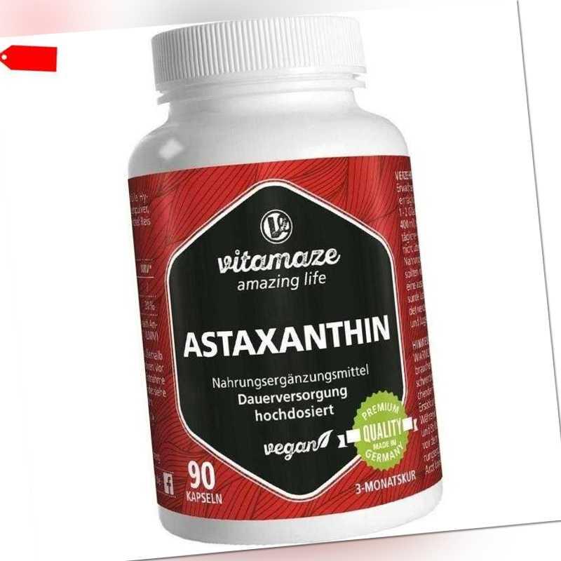 ASTAXANTHIN 4 mg vegan Vitamaze Kapseln   90 st   PZN13947474