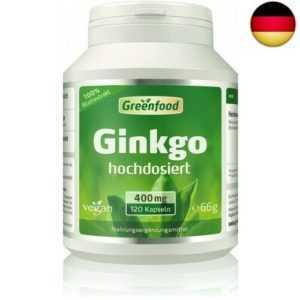 Ginkgo Biloba, 400 mg Blattextrakt, extra hochdosiert 25% Flavone  (120 Kapseln)