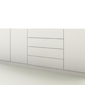 """Sideboard """"Vaasa 4"""" Anrichte Kommode Schrank Möbel Flur Wohnzimmer Hochglanz"""