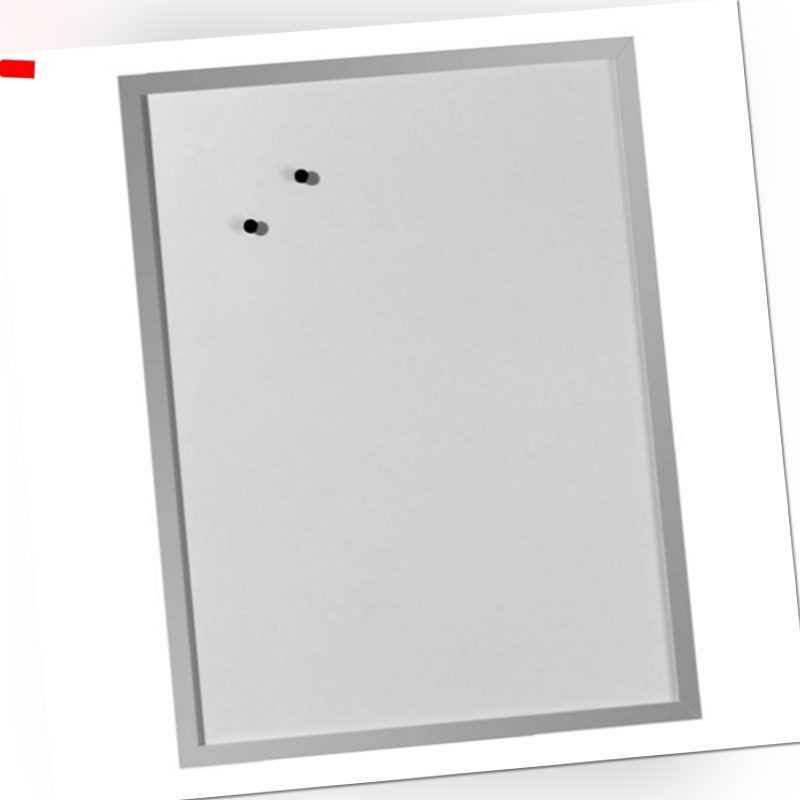 Herlitz Whiteboard Magnettafel 60 x 80cm silberner Holzrahmen Schreibtafel Tafel