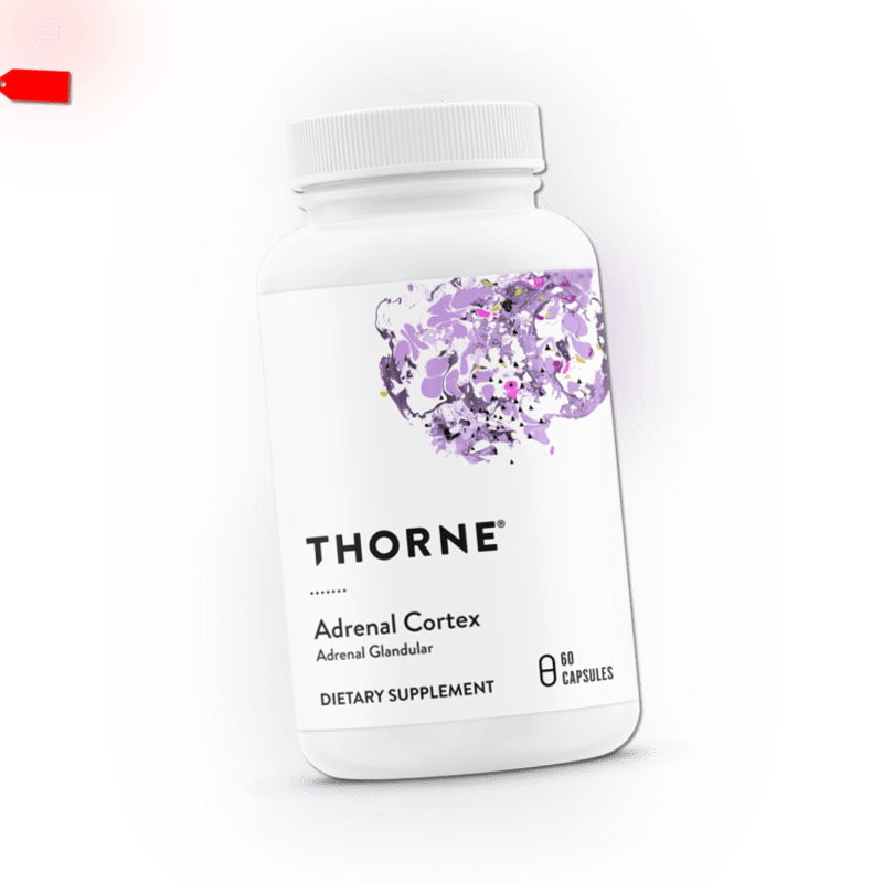 Thorne Research, Adrenal Cortex, 50mg, 60 Veg. Kapseln - Blitzversand