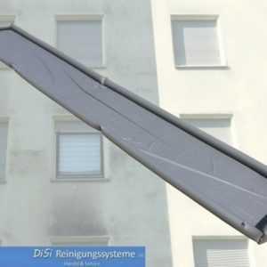 Fassadenreinigung Schmutzwasserplane Auffangwanne Auffangrinne mit Lufträndern