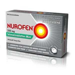 NUROFEN 200 mg Schmelztabletten Mint 24 St PZN: 11128051