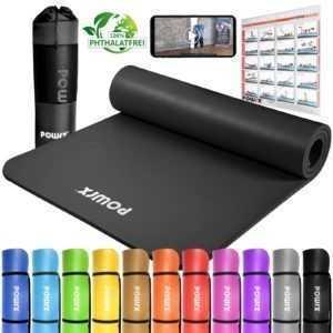 Gymnastikmatte inkl. Trageband + Tasche | Trainingsmatte versch. Größen + Farben