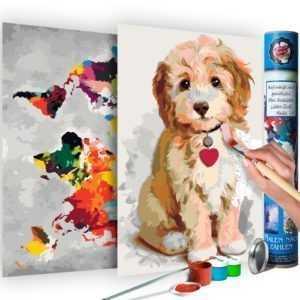 Malen nach Zahlen Erwachsene Wandbild Malset mit Pinsel Malvorlage n-A-0334-ab-r
