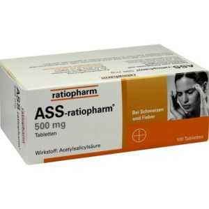 ASS RATIOPHARM 500 mg Tabl.   100 st   PZN3416422