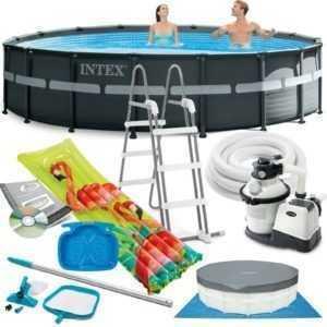 INTEX Ultra Frame Swimming Pool 549x132 cm Schwimmbecken Stahlrahmen 26330