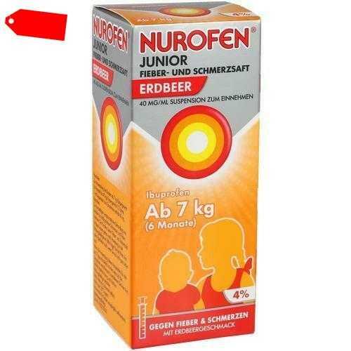 NUROFEN Junior Fieber-u.Schmerzsaft Erdbe.40 mg/ml 100 ml 07776471