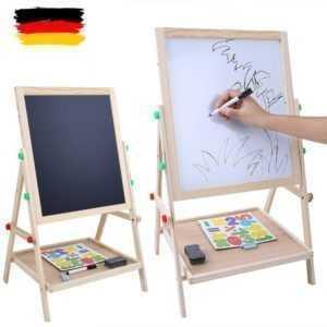 2 in 1 Kind Kreidetafel Schreibtafel Kinder Schultafel Kindertafel Standtafel DE