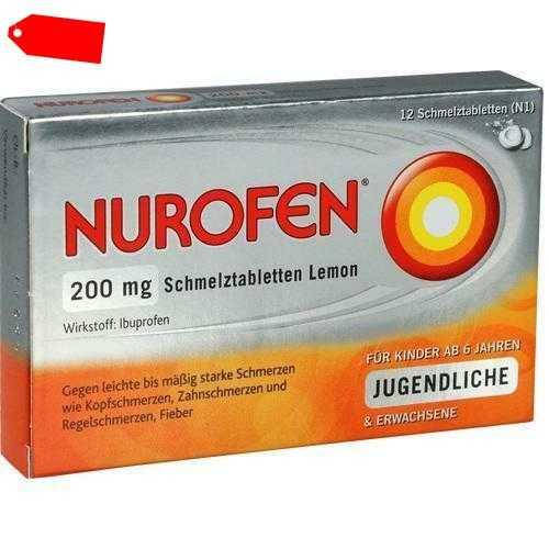 NUROFEN 200 mg Schmelztabletten Lemon 12 St 02547582