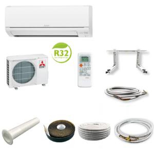 Mitsubishi Basic Klimaanlage Inverter MUZ-HR35VF MSZ-HR35VF 3,5 kW + Montageset; EEK A++