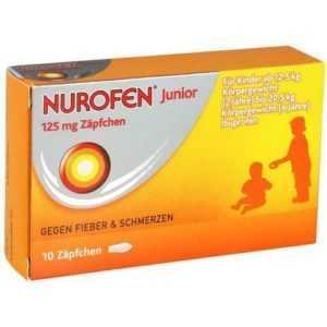 NUROFEN Junior 125 mg Zäpfchen 10 St 04660785