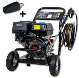 Benzin Flächenreiniger Motor Hochdruckreiniger Dampfstrahler + HD Dreckfräse NEU