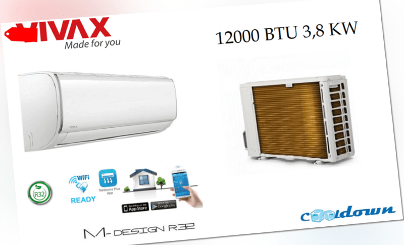 VIVAX Split Klimaanlage M Design 3,81 KW  WIFI Klimagerät 12000 BTU R32  A++ ; EEK A