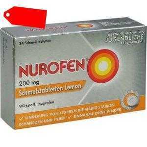 NUROFEN 200 mg Schmelztabletten Lemon 24 St 11550548